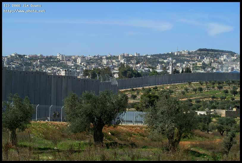 the israeli wall separating israel from west b bank near beth downs jim