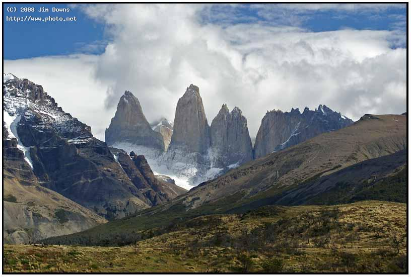 the smoking towers of torres del paine np to downs jim