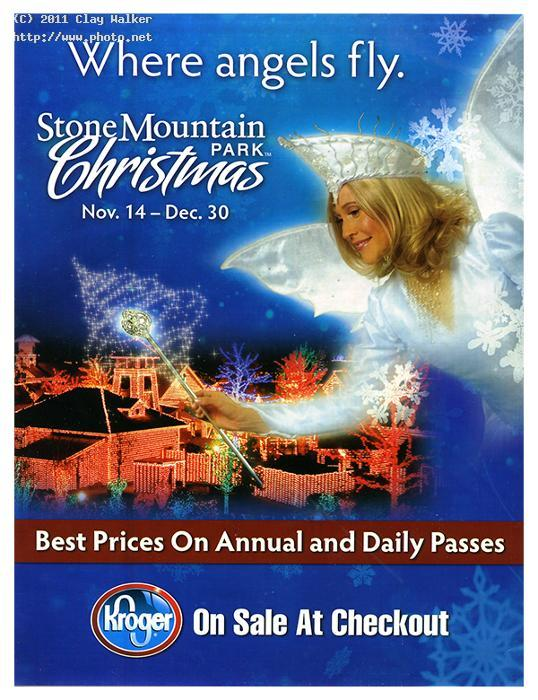 the stone mountain park christmas ad at kroger walker clay