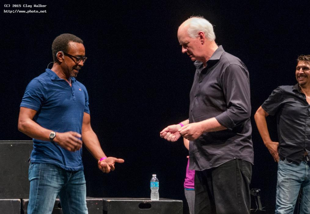 tim meadows colin mochrie lucky yates discussing walker clay
