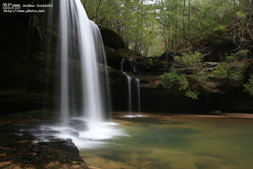 upper caney creek falls south bank forest canon eos digital rebel xt d e szulecki joshua