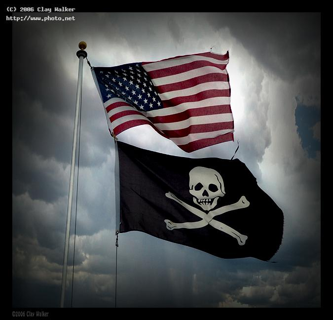 usa pirate flags walker clay