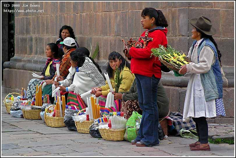 waiting for easter sunday mass to end so that they business cusco olym downs jim