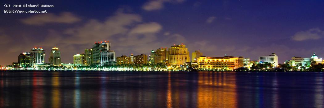 west palm beach blue hour skyline watson richard